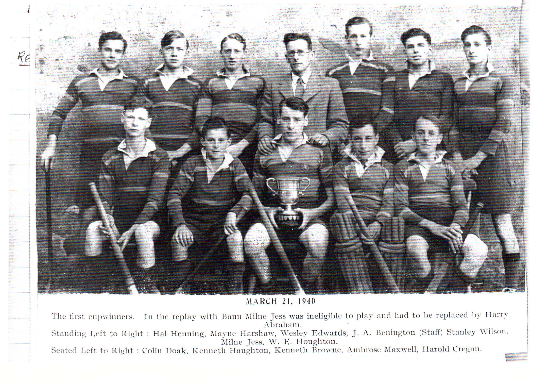 Burney Cup Winners1940
